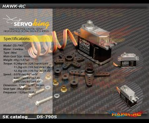 ServoKing DS-790SHV Mini Size Servo (0.053s,12.3kg @ 8.4V)